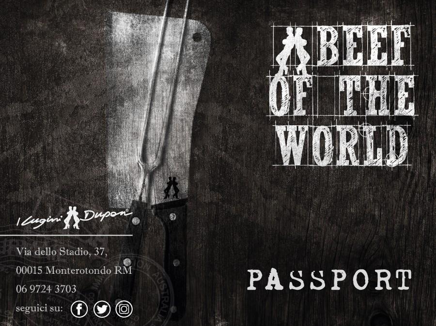 Allacciate le cinture si parte. BEEF OF THE WORLD un viaggio alla scoperta delle migliori carni mondiali.