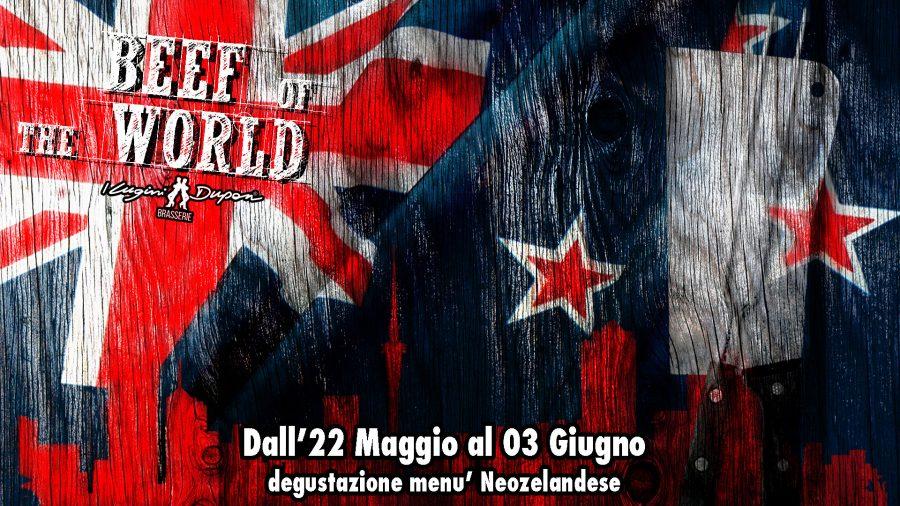 BEEF OF THE WORLD: AD APRILE SI VOLA IN NUOVA ZELANDA